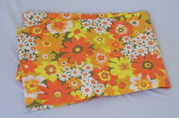 Vintage Flower Print Twin Flat Sheet