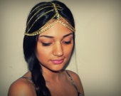 Waterfall Head Piece Crown - Gold