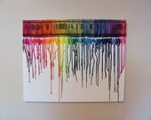 RAINBOW custom canvas art any size or color, made to order