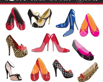 INSTANT DOWNLOAD Let's talk about shoes Personal and Commercial Use Clip Art