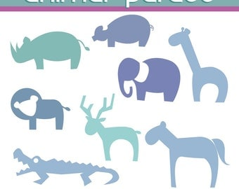 INSTANT DOWNLOAD Animal parade  -Personal and Commercial Use Clip Art-