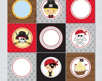 PIRATE PARTY Printable Cards/tags and toppers.