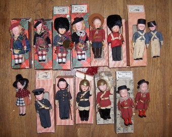 Doll Collection Made in England Vintage