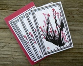 Cherry Blossom Blank Enclosure Gift Card - Set of Five