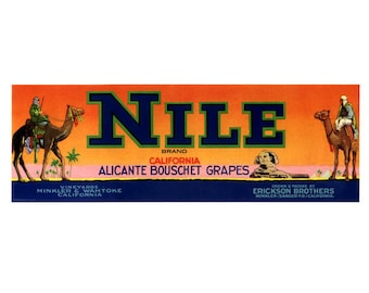Nile California Grape Crate Label