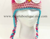 Childrens Customizable Crochet Owl Hat