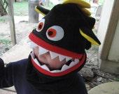 Child Fleece Monster Hat Scarf Cowl Halloween Costume