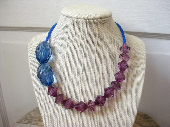 Toddler Jewelry, Little Girl Necklace, Purple and Blue, Dress Up Jewelry