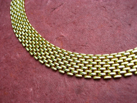 RESERVED for dominique  Vintage Collar Necklace Panther Link Cleopatra Gold Tone