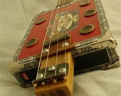 Cigar Box Guitar (4 string, fretless, electric, blues, slide guitar)