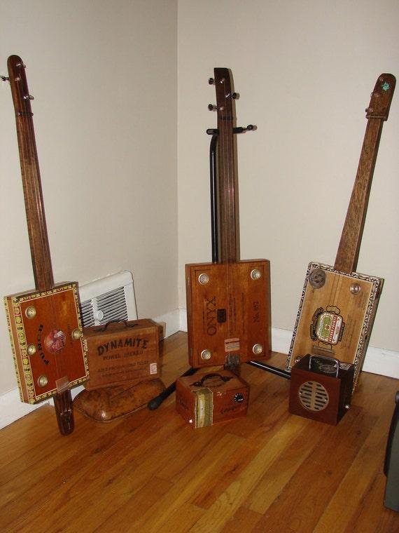 standard cigar box guitar 3 string fretless by timgreenhalgh. Black Bedroom Furniture Sets. Home Design Ideas
