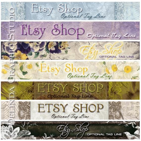 free etsy shop banner and avatar design. Black Bedroom Furniture Sets. Home Design Ideas