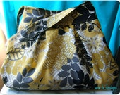 The Charlie Bag - Medium Purse in Yellow Floral Duckcloth