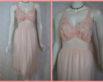 1950s Rogers Pink Nightgown, 36, Medium, Large, New Old Stock