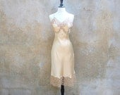 Vintage pure silk Jean Harlow sexy sultry slip/  nude nightgown medium