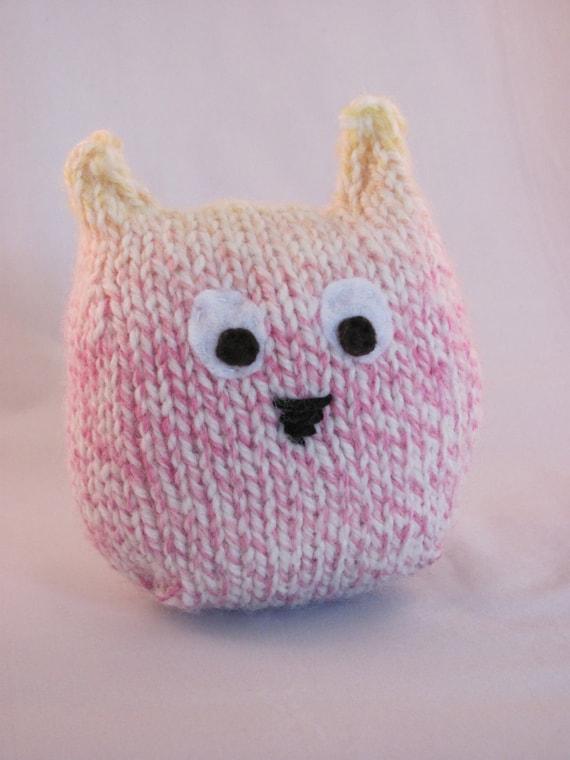 Handknit Plush Owl