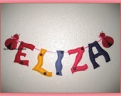 ELIZA Personalized Banner,  Letters for Children Room - 5 letters