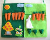 Bunny Quiet Book, Bunny Garden, Felt Board for Kindergarten and Preschool
