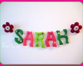 SARAH Banner  Room, Felt Garland for Children