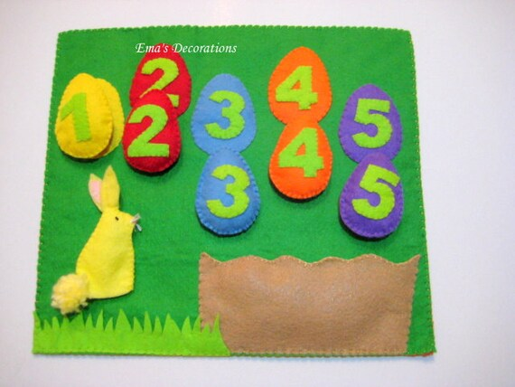 Numbers Bunny Game, Easter Bunny Board, Easter Eggs, Easter Gift Idea, Montessori Materials, Felt Board Set, Personalized Easter Eggs