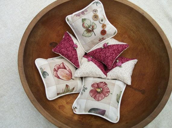 Leaf-print bowl filler or pincushion