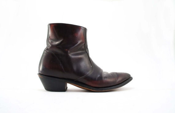Men's Cowboy Ankle Boots with Western Design by Laredo in
