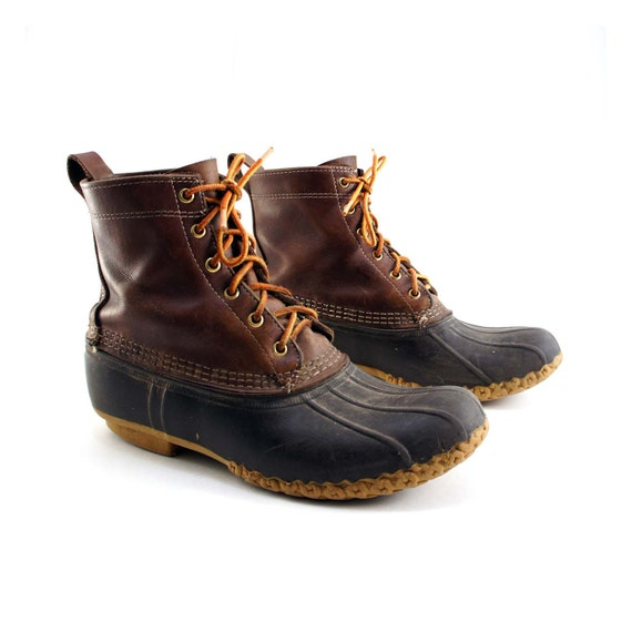 Vintage Men S L L Bean Duck Boots Size 9