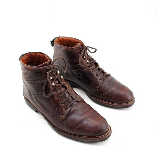 cole haan country ankle boots in chocolate lace up fashion for