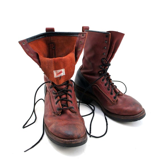 Red Wing Boots in Lace Up Combat Boot Style for a Men's by ShopNDG