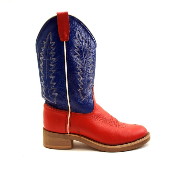 black friday white and blue vegan cowboy boots for the