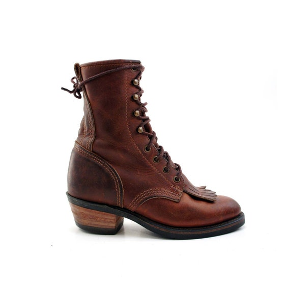 durango lacer boot with packer heel and kiltie toes country