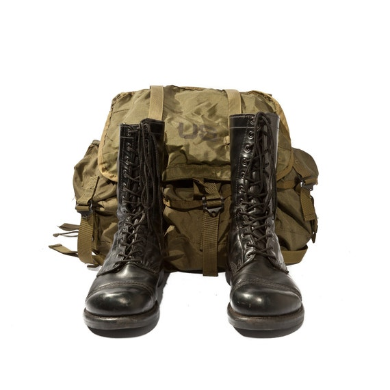 Vintage Corcoran Jump Boots Authentic Military Issue Combat Gear Soldier's Size 8 1/2 E