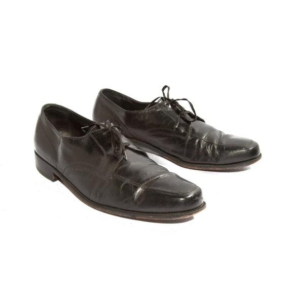 Men's Dress Shoes Black Leather Florsheim Oxfords size 13