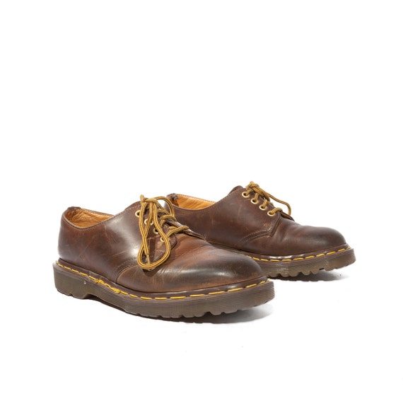 Vintage Dr Marten Shoes Brown Lace Up Oxfords in Women's Size 8 or UK 6