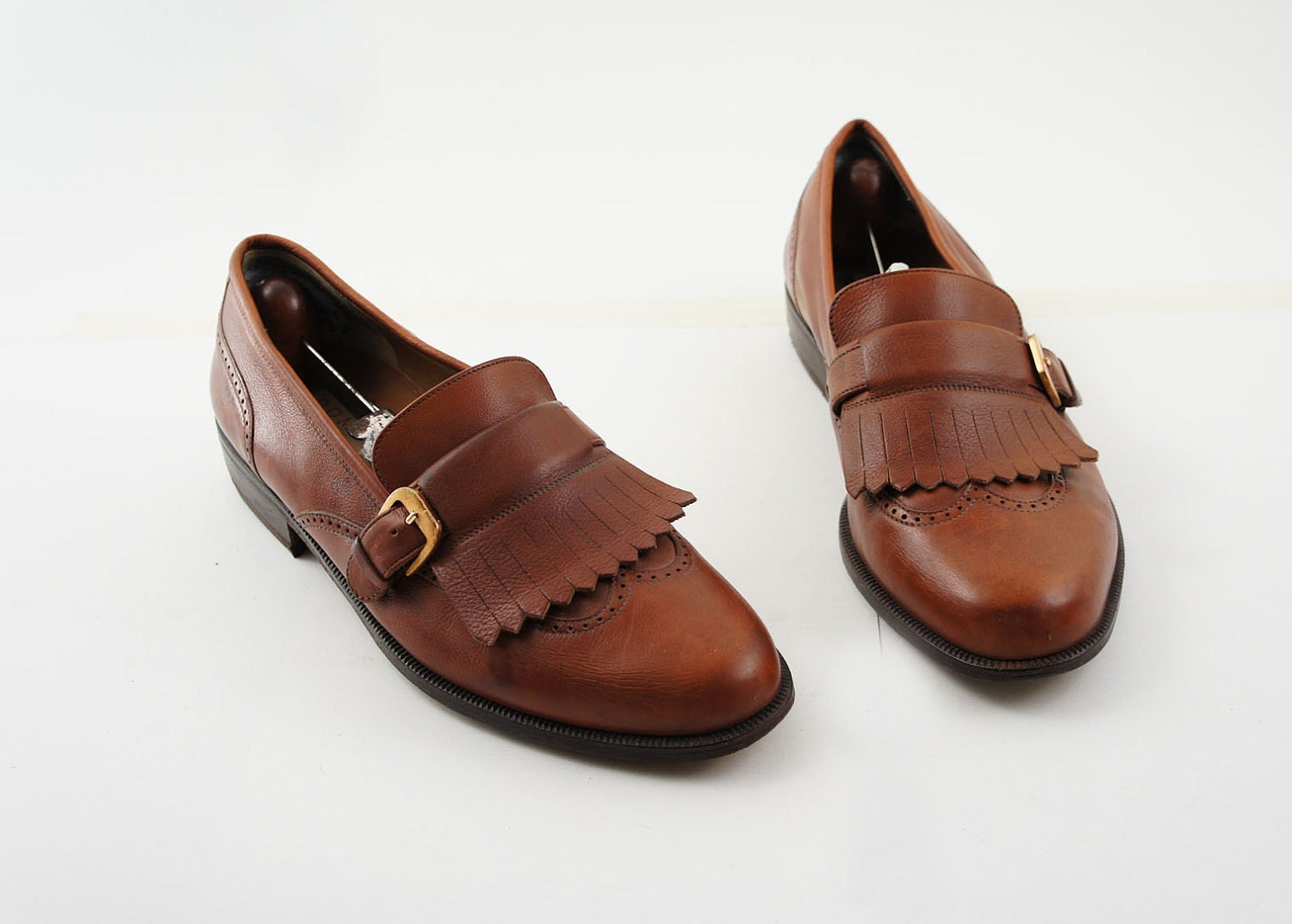 s preppy loafer dress shoes in a brown leather with