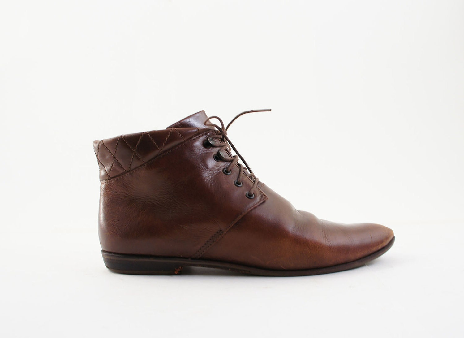 Popular Alfa Img  Showing Gt Leather Brown Flat Ankle Boots