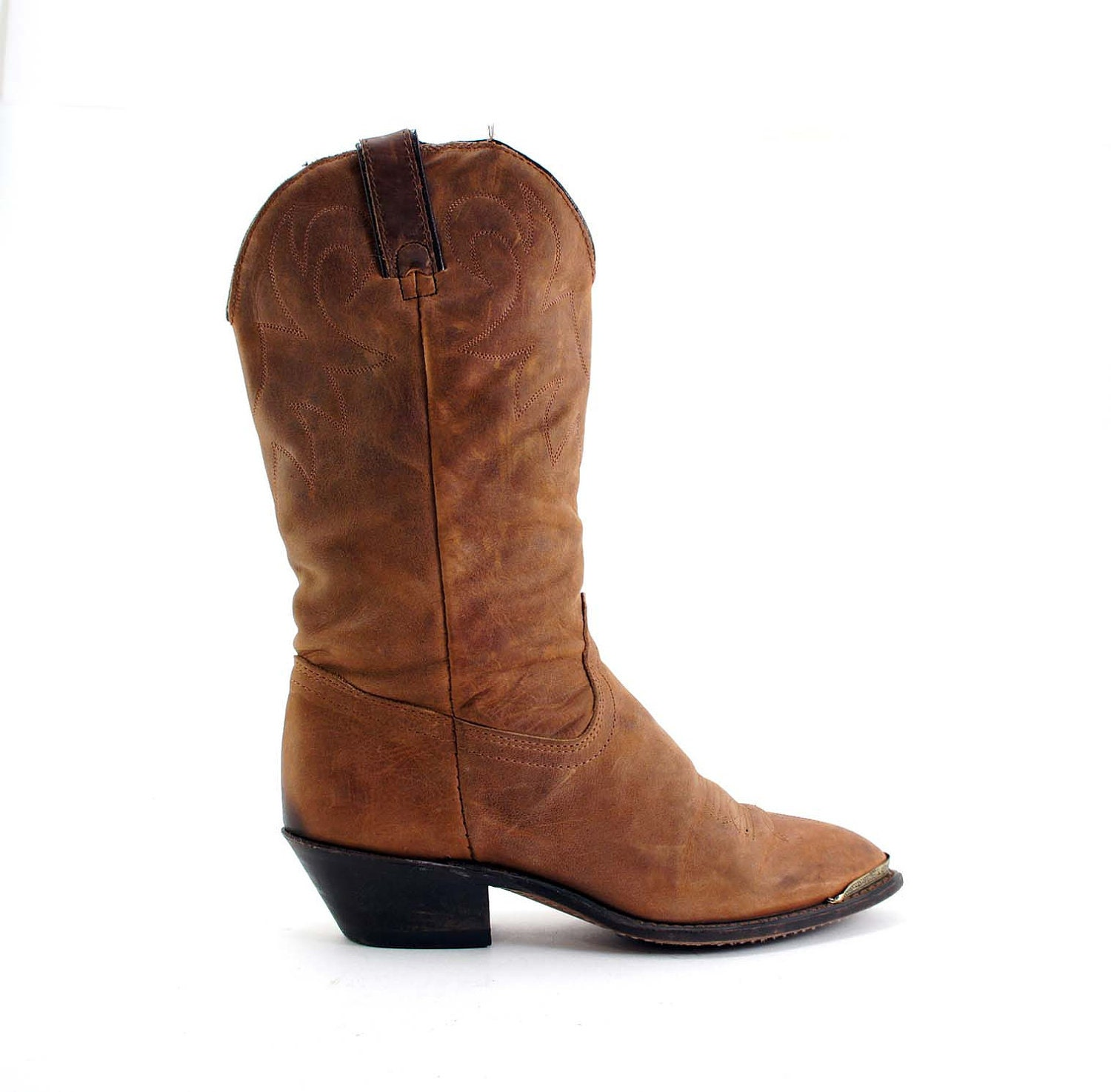 s cowboy boots by durango in a light brown leather