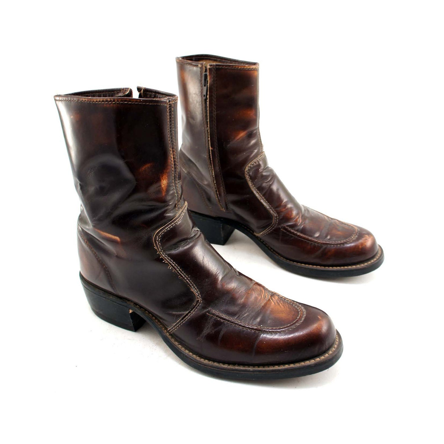 s ankle boots in a beatle boot style zipper boots by