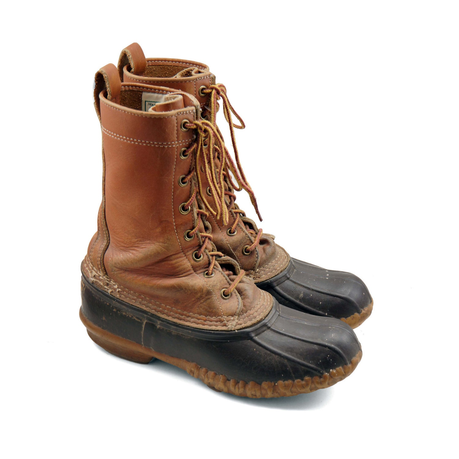 ll bean duck boots tall lace up rain boots bean boots. Black Bedroom Furniture Sets. Home Design Ideas