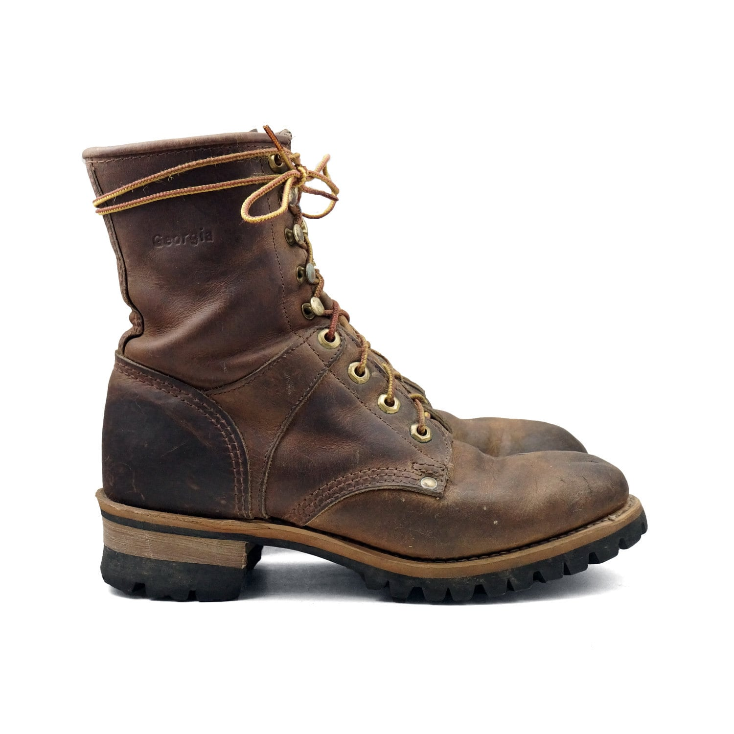 Rustic Women's Logger Boots: Lace up Hiker / Work Boot in