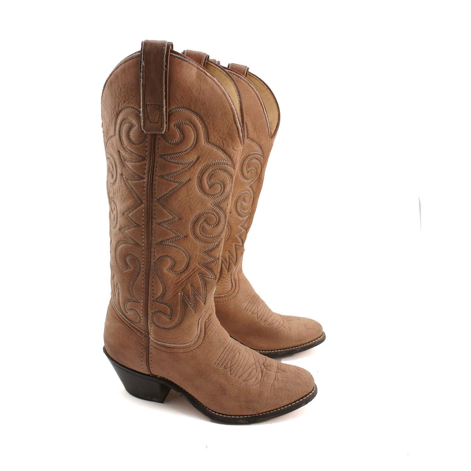 Brown Cowgirl Boots - Cr Boot