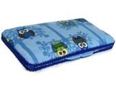 Wipes Case - Blue Owls