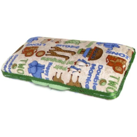 Wipes Case - Noah's Ark Print