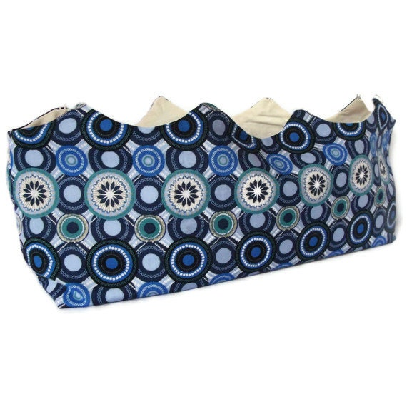 Interchangeable Purse Cover, Purse Shell - Blue Circle's