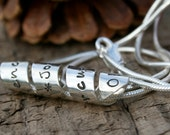 Personalized Petite Open Scroll Necklace - silver scroll, scroll necklace, graduation gift, birthday gift