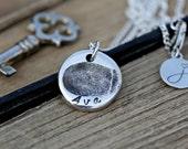 Double Sided Fingerprint Necklace Petite