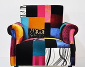Reserved Listing for Darrah McCaulley: 2 custom armchairs & 2 additional solid fabric accent pillows