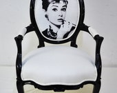 RESERVED ITEM for KSENIA: Pair of audrey hepburn vintage armchairs