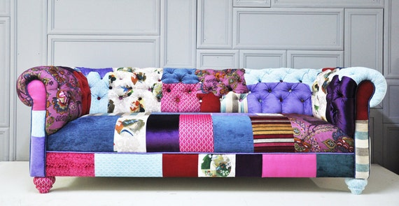 Reserve Listing for Rye - chesterfield patchwork sofa