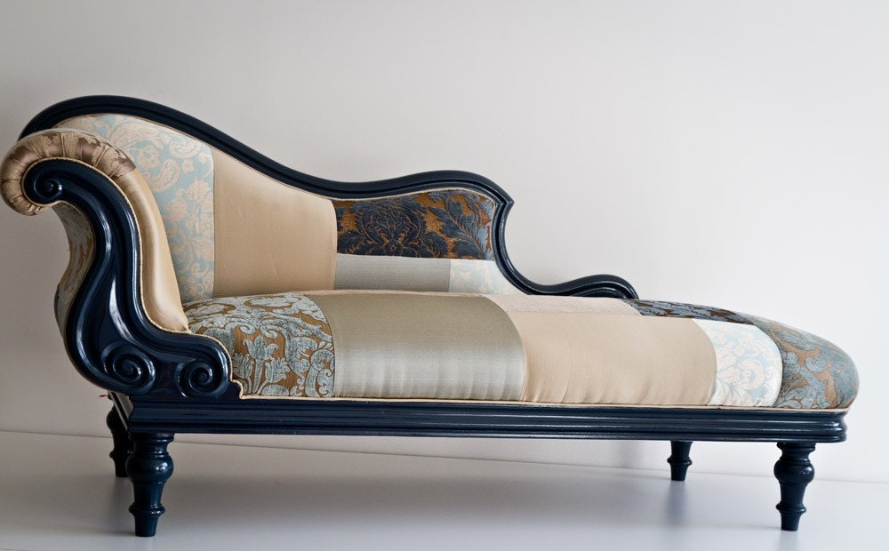 Patchwork chaise lounge for Chaise lounge com